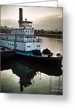 Portland Steam Sternwheeler  Tugboat Greeting Card
