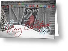 Portland Trailblazers Greeting Card