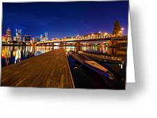 Portland Under The Stars Greeting Card