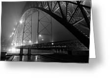 Porto @ Night Fog Greeting Card