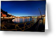 Porto By Night. Greeting Card