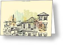 Porto, Portugal, Europe. Street In Old Greeting Card