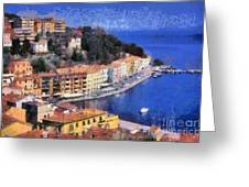 Porto Stefano In Italy Greeting Card