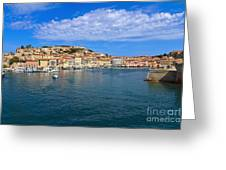 Portoferraio - View From The Sea Greeting Card