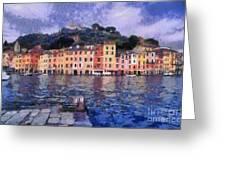 Portofino In Italy Greeting Card