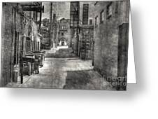 Portrait Alley-2 Greeting Card