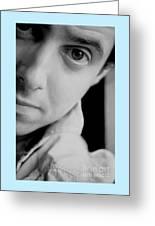 Portrait Figurative Study Piece Of Bobby  Greeting Card