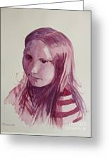 Portrait In Burgundy  Greeting Card