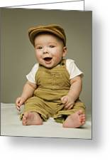 Portrait Of A Baby Boy Greeting Card