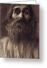 Portrait Of A Bearded Man Greeting Card