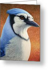 Portrait Of A Bluejay Greeting Card