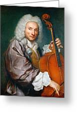 Portrait Of A Cellist Greeting Card