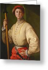 Portrait Of A Halberdier Greeting Card