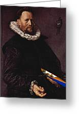 Portrait Of A Man Holding A Skull 1612 Greeting Card