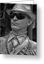 Portrait Of A Mime In Jackson Square Greeting Card