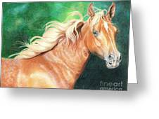 Portrait Of A Palomino Greeting Card