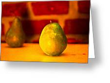 Portrait Of A Pear Greeting Card