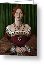 Portrait Of A Tudor Lady Greeting Card