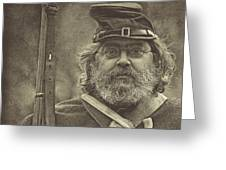 Portrait Of A Union Soldier Greeting Card by Pat Abbott