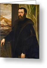 Portrait Of A Venetian Senator Greeting Card