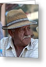portrait of a villager Selcuk Turkey Greeting Card