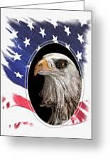 Portrait Of America Greeting Card by Tom Mc Nemar