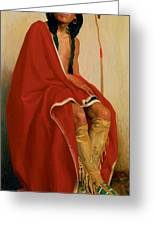 Elk Foot Of The Taos Tribe Greeting Card
