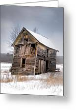 Portrait Of An Old Shack - Agriculural Buildings And Barns Greeting Card