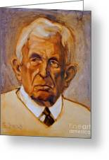 Portrait Of An Older Man Greeting Card