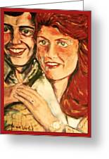 Portrait Of Andrew And Sarah Greeting Card