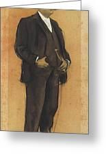 Portrait Of Arcadi Mas I Fondevila Greeting Card