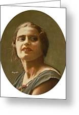 Portrait Of Ayn Rand Greeting Card