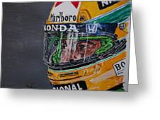 Portrait Of Ayrton Senna Greeting Card
