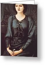 Portrait Of Baronne Madeleine Deslanders Greeting Card by Edward Burne-Jones