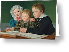 Portrait Of C F Holms Children Greeting Card