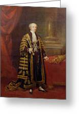 Portrait Of Colonel Sir Samuel Wilson, Lord Mayor Of London, 1838 Oil On Canvas Greeting Card