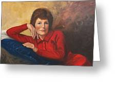 Portrait Of Donna Greeting Card