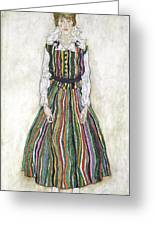 Portrait Of Edith Schiele, The Artists Greeting Card