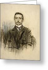 Portrait Of Eduardo Chicharro Greeting Card