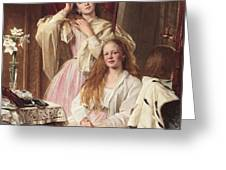 Portrait Of Emma And Frederica Bankes Greeting Card