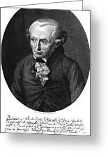 Portrait Of Emmanuel Kant  Greeting Card by German School