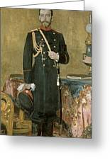 Portrait Of Emperor Nicholas II 1868-1918 1895 Oil On Canvas Greeting Card