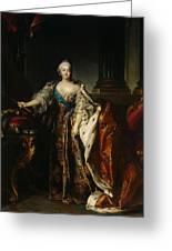 Portrait Of Empress Elizabeth, 1758 Oil On Canvas Greeting Card