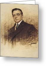 Portrait Of Enric Borras Greeting Card