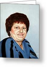 Portrait Of Essie Simon  Greeting Card