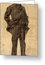 Portrait Of Ezequiel Boixet Greeting Card