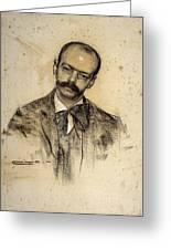 Portrait Of Gabriel Alomar Greeting Card