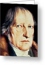 Portrait Of Georg Wilhelm Friedrich Hegel Greeting Card