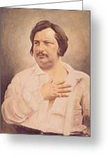 Portrait Of Honore De Balzac Greeting Card