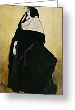 Portrait Of Ida Lvovna Rubinstein Greeting Card